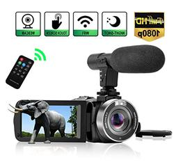 Camcorder Digital Video Camera, Camcorder with Microphone Wi