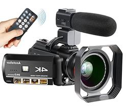 4K Camcorder, Ansteker Ultra-HD 1080P 24MP 30FPS Digital WiF