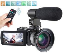 Camcorder,Besteker 1080P IR Night Vision Full HD Digital Vid
