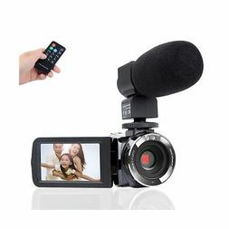 Camcorder Camera,Kimire HD 1080P Camera With Microphone Remo