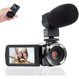 Camcorder Camera,Kimire HD 1080P Microphone Remote Control I