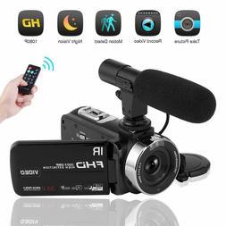 Camcorder Digital Video Camera, Camcorder with Microphone IR