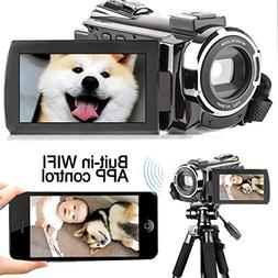 COOCHEER Camera Camcorder FHD 1080P 24MP Video Camcorder Por