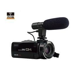 SEREE Camcorder Video Camera FHD 1080p 24.0MP WIFI Digital C