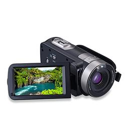 Konesky Camcorder FHD 1080P 24MP Camera with 16X Digital Zoo