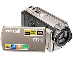 Camcorder,Besteker HD 1080P IR Night Vision WiFi Video Recor