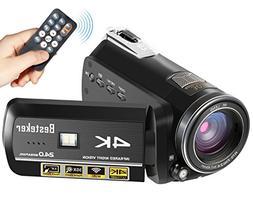 Camcorder,Besteker 4K 60fps 24MP 30X Digital Zoom Video Camc