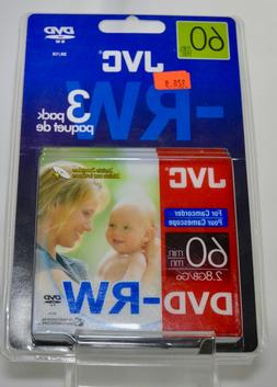 JVC Video camera Camcorder 60 min minutes 3 DVD-RW 2.8GB / G