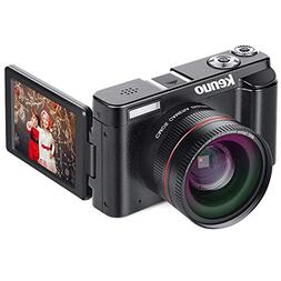Digital Camera Camcorder, KENUO FHD 1080p Video Camera with