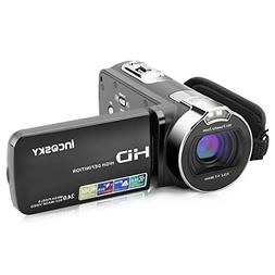 incoSKY Video Camera Camcorder HD Recorder 1080P 24MP 16X Po