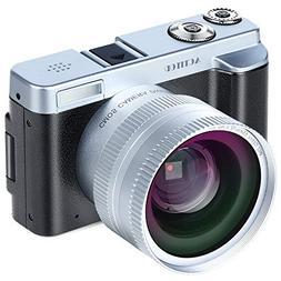 Digital Camera Camcorder, ACTITOP FHD 1080P 24MP 30FPS Vlogg