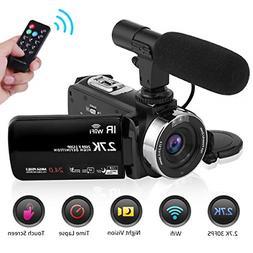 Seree Camcorder Video Camera 2.7K WiFi Vlogging Camera Night