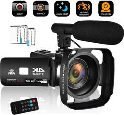 Camcorder Video Camera 4K 48MP WiFi Vlogging Camera Night Vi