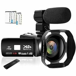 Camcorder Video Camera 4K 48MP WiFi YouTube Camera Night Vis