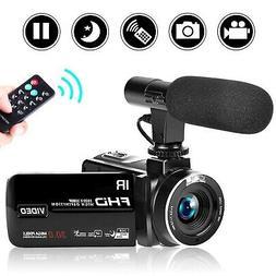 SEREE Camcorder Video Camera Full HD 1080P Night Vision Camc