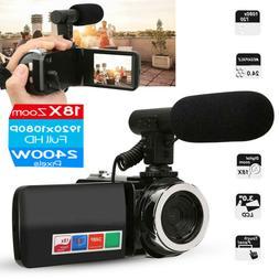 Camcorder Video Camera,Ultra HD 3 inch 18X  Vlogging Camera