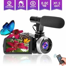 Camcorder Video Camera, Vlogging Camera for YouTube 2.7K Ful