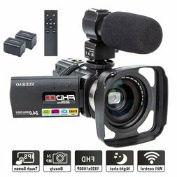 Camcorder Video Camera YEEHAO WiFi HD 1080P 24MP 16X Powerfu