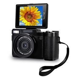 Digital Camera Camcorder Full HD Video Camera 1080p 24.0MP V