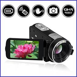 Video Camcorder Full HD 1080p Digital Camera 24.0MP 18x Digi
