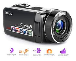 Camcorder Digital Camera Full HD 1080p 18X Digital Zoom Nigh