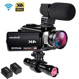 4K Camcorders, 48MP Ultra HD WiFi Video Cameras with IR Nigh
