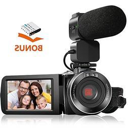 Camera Camcorders AOOE HD Recorder 1080P 24 MP 16X Video Cam