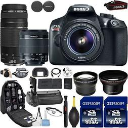 Canon EOS Rebel T6 DSLR Camera with 18-55mm IS II Lens + Can