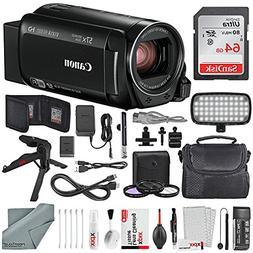 Canon Vixia HF R80 HD Camcorder Deluxe Bundle W/ 64GB SD, Ta