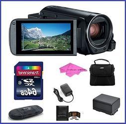 Canon VIXIA HF R800 Full HD Camcorder Bundle, includes: 64GB