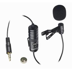 Panasonic HC-V720K Camcorder External Microphone Vidpro XM-L Wired Lavalier Microphone 20 Audio Cable Transducer Type Electret Condenser