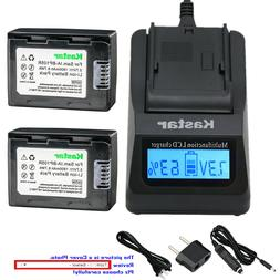 Kastar Charger Battery for Samsung IA-BP105R HMX-F80 HMX-F90