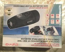 CRAIG HIGH DEFINITION ACTION CAMCORDER WATERPROOF W/ MOUNTS