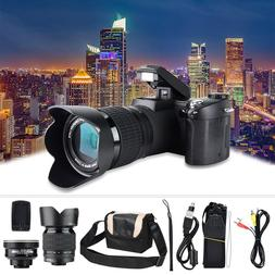 D7100 HD 33MP 3'' LCD 16X-24X Zoom LED Digital DSLR <font><b