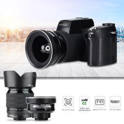 D7100 HD 33MP 3'' LCD 24X Zoom LED Digital DSLR <font><b>Cam