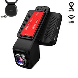 TOGUARD Dash Cam GPS WiFi, Vehicle Camera Camcorder Full HD