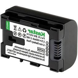 Kastar Fully Decoded BN-VG114 Battery for JVC BN-VG107 BN-VG