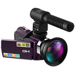 Digital Camcorder Full HD 1080P 30FPS 24MP IR Night Vision V