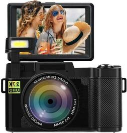 Seree Digital Camera Vlogging Camera 2.7K 24MP Full HD 3.0 i