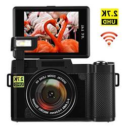 Digital Camera with WiFi 24.0 MP Vlogging Camera 2.7K Ultra