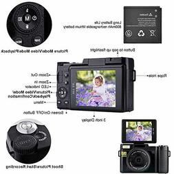 Digital Camera with WiFi 24MP 2.7K HD Video Camcorder 3.0 In