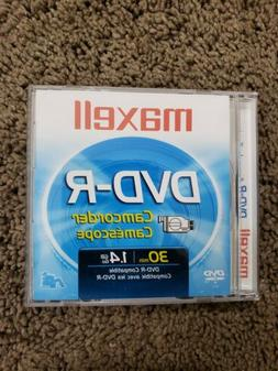 Maxell DVD-R Camcorder Disc 30min 1.4G FREE SHIPPING