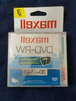 Maxell dvd-rw camcorder minidisc 3 pack 30 minutes - 1.4 GB