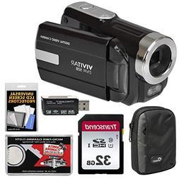 Vivitar DVR-508 HD Digital Video Camera Camcorder  with 32GB