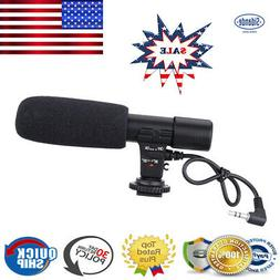 Sidande External DSLR DV Camera Camcorder Microphone Shotgun