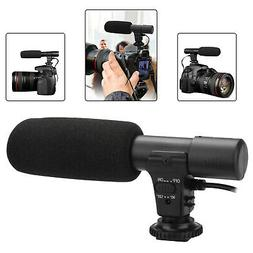 External Stereo Microphone For DSLR Camera Canon Nikon Panas