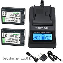 Kastar Fast Charger + Battery 2 Pack for Sony NP-FH50 NP-FH4