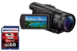 Sony FDR-AX100/B 4K Video Camera with 3.5-Inch LCD W/ 64GB S
