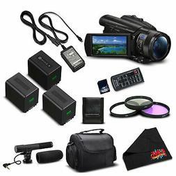 Sony FDR-AX700 4K HDR Camcorder w/3.5 Inch LCD  Advanced Bun