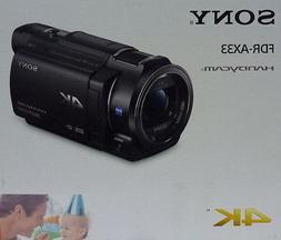 Sony FDRAX33 4K HD Video Recording  Handycam Camcorder FDR-A